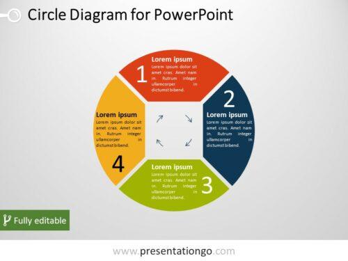 Free 4-Part Circle PowerPoint Diagram