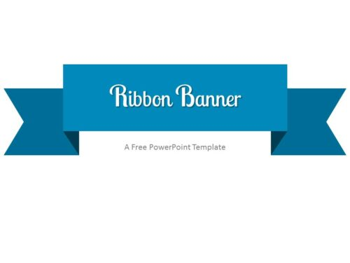 Free Blue Ribbon Banner PowerPoint Template
