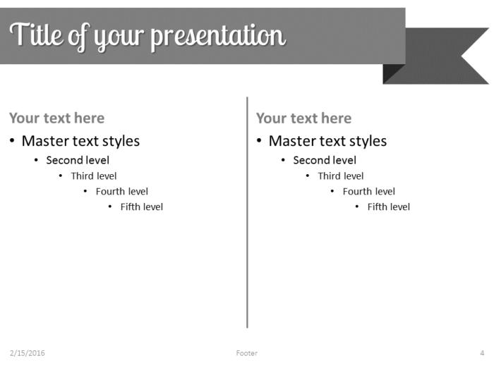 Gray Ribbon Banner PowerPoint Template - Slide 4