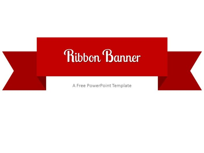Free Red Ribbon Banner PowerPoint Template