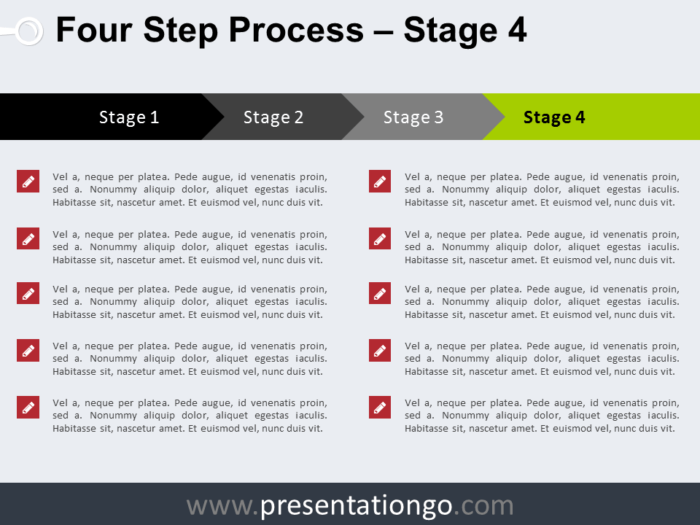 Free 4 Step Process PowerPoint Template - Stage 4