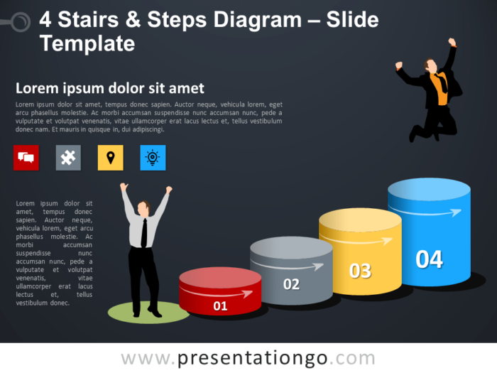 Free 4 Stairs and Steps Template