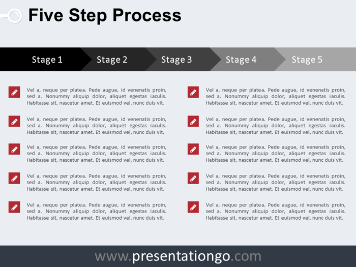 Free 5 Step Process PowerPoint Template