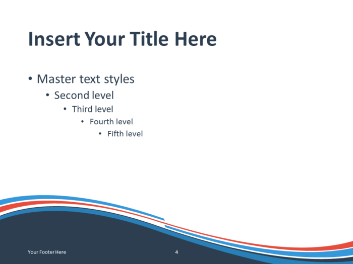 Abstract Free Blue Orange Wave PowerPoint Template