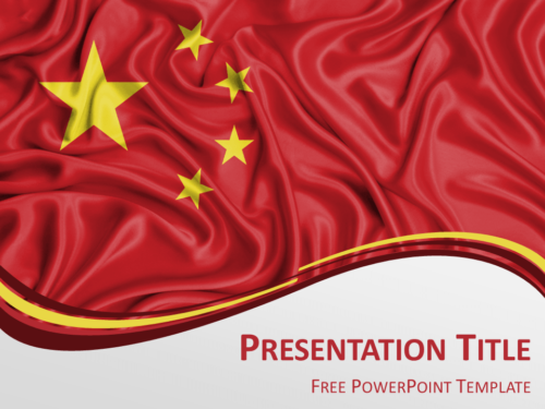 Free PowerPoint template with flag of China background