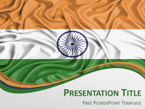 Free PowerPoint template with flag of India background