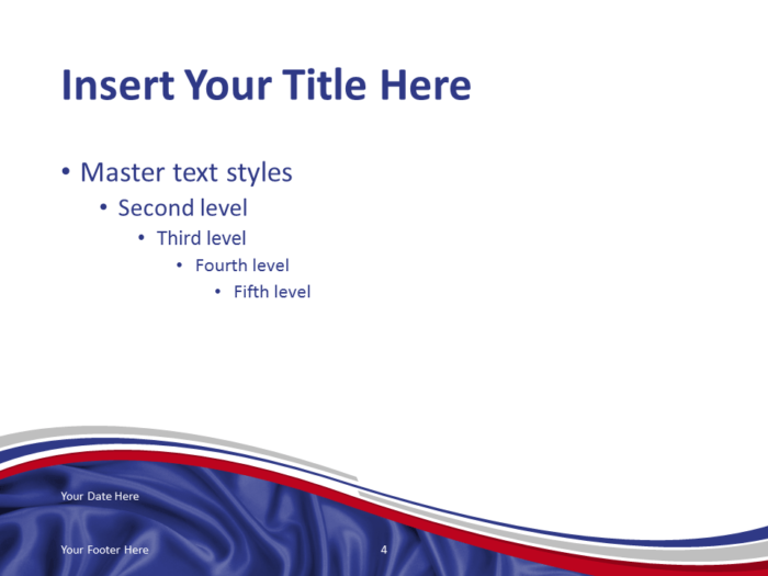 Free PowerPoint template with flag of the Russia background. Title and Content slide.