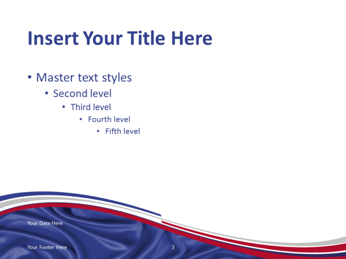 Free PowerPoint template with flag of France background. Title and Content slide.