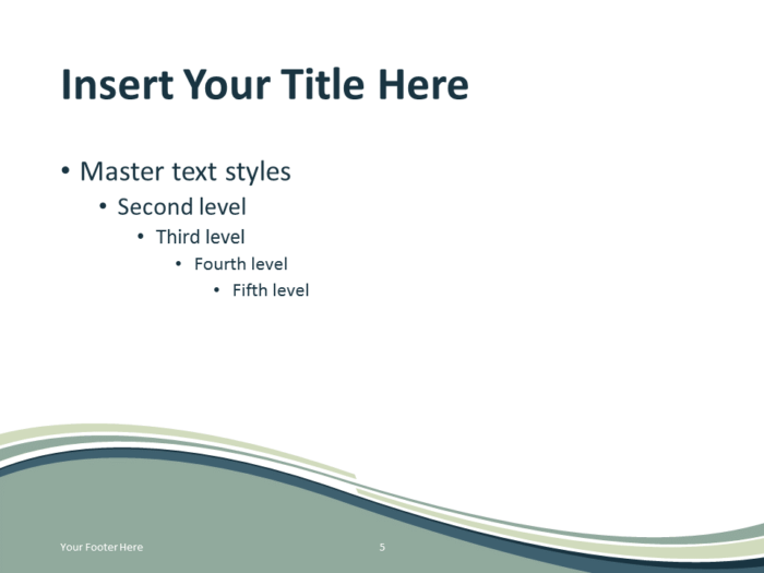Abstract Free Grayish Wave PowerPoint Template Content Slide Light