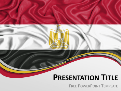 Free PowerPoint template with flag of Egypt background