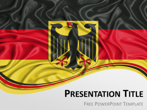 Free PowerPoint template with flag of Germany background