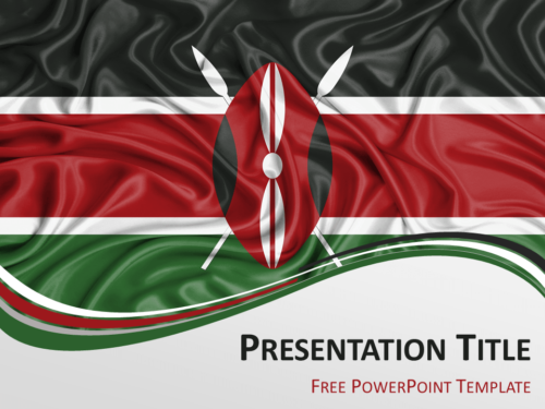 Free PowerPoint template with flag of Kenya background
