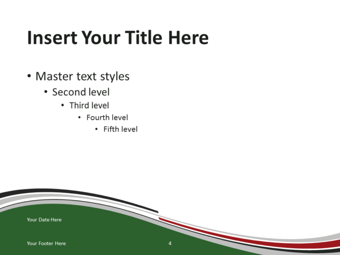 Free PowerPoint template with flag of Kenya background. Title and Content slide.