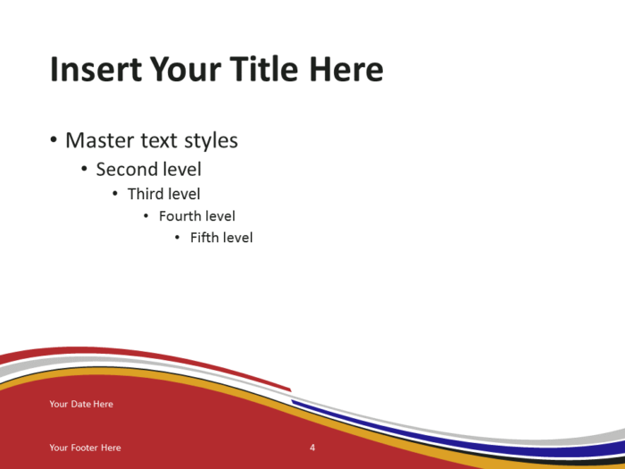 Free PowerPoint template with flag of South Africa background. Title and Content slide.