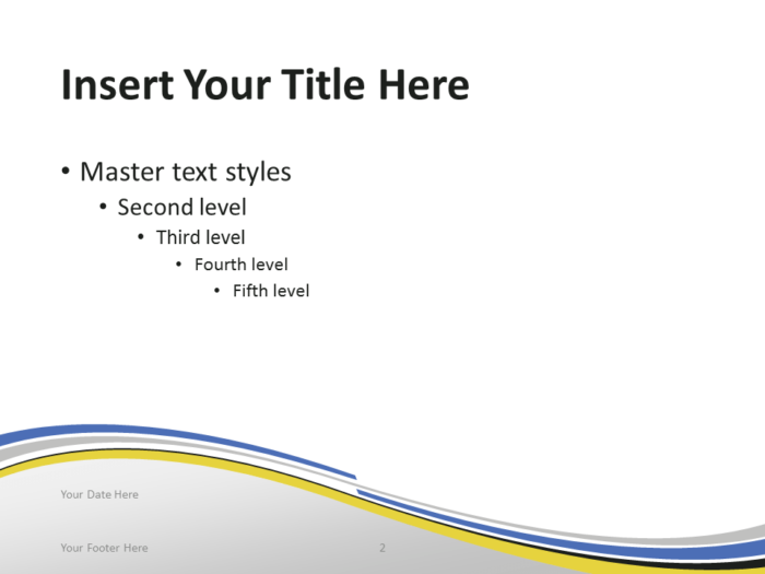 Free PowerPoint template with flag of Ukraine background. Title and Content slide.