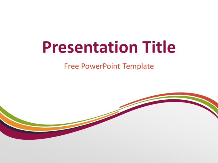 Free Purple Abstract Wave PowerPoint Template - Title Slide With Light Background