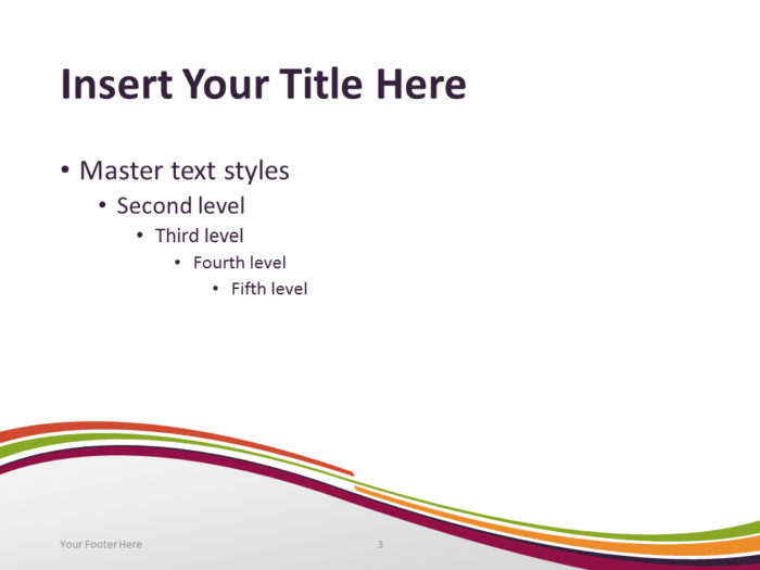 Free Purple Abstract Wave PowerPoint Template - Content Slide