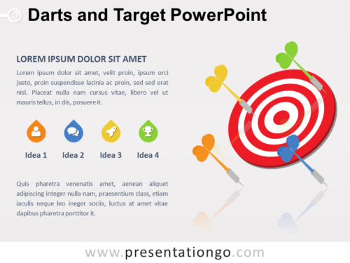 Free Darts and Target PowerPoint Diagram
