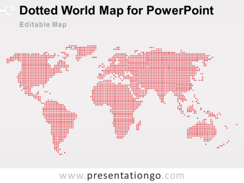 Free Editable Dotted World Map PowerPoint
