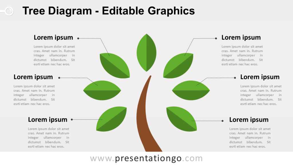 Free Simple Tree PowerPoint Diagram - Widescreen size (16:9)