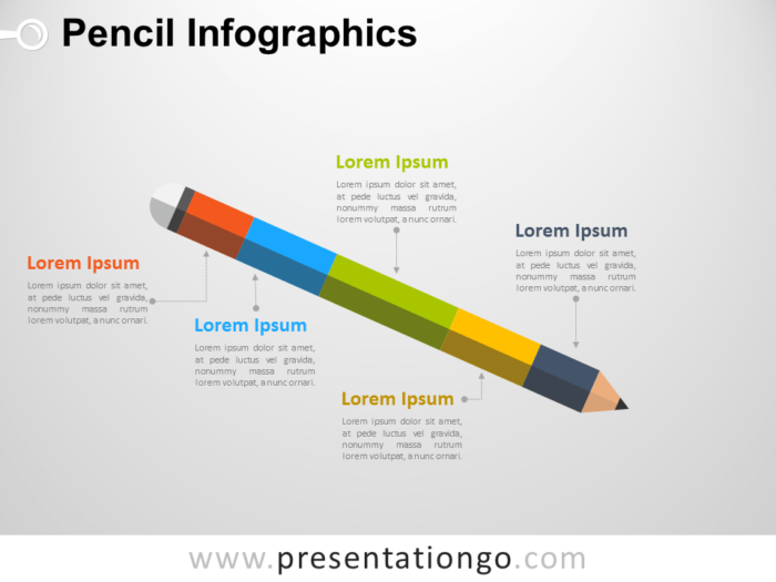Free Infographic Pencil Diagram for PowerPoint