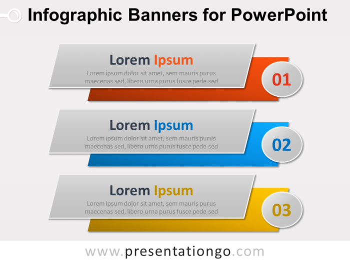 Free Infographic Banners Diagram for PowerPoint