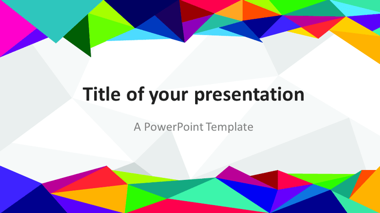Free PowerPoint template with colors of the 80s - Widescreen