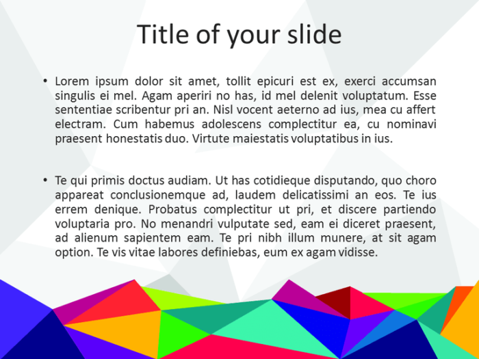 Free PowerPoint template with colors of the 80s - Slide 2