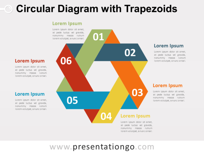 Free Circular Diagram with Trapezoids for PowerPoint