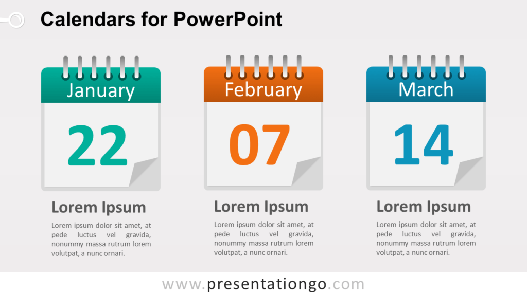 3 Calendars for PowerPoint