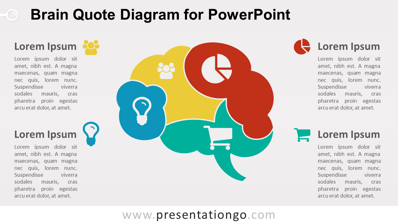 Brain Quote Diagram for PowerPoint