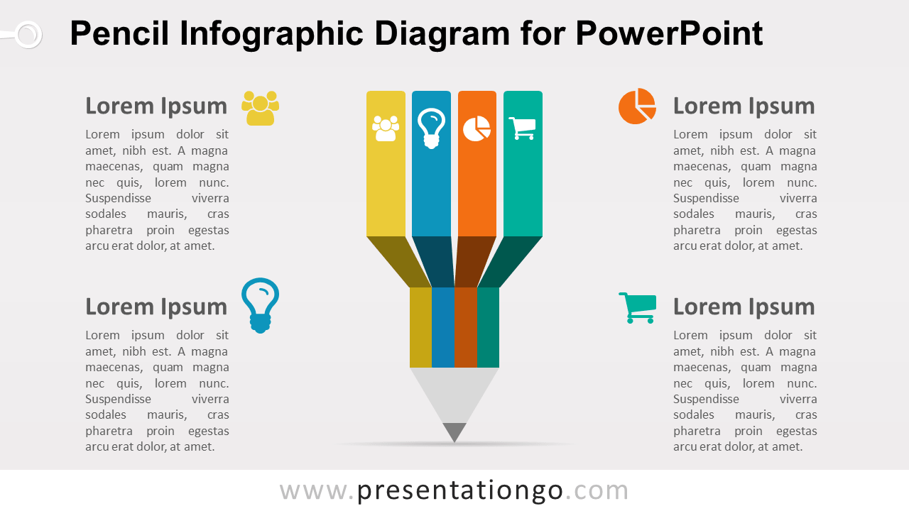 Infographic Pencil PowerPoint