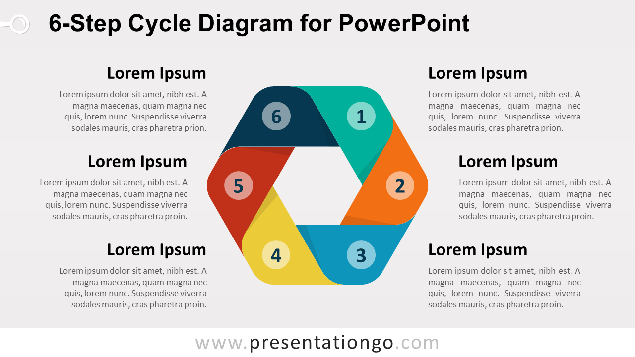 6-Step Cycle PowerPoint Diagram