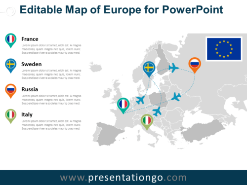 Free Europe PowerPoint Map