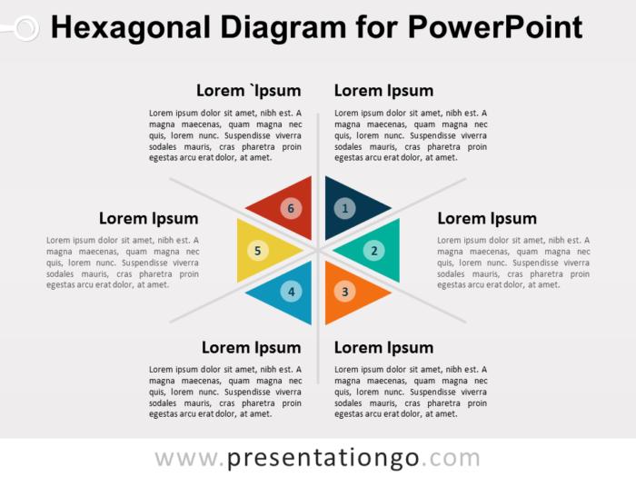 Hexagonal Diagram for PowerPoint