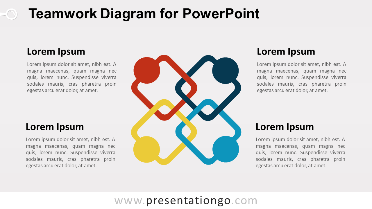Teamwork Analogy for PowerPoint with Entwined Arms