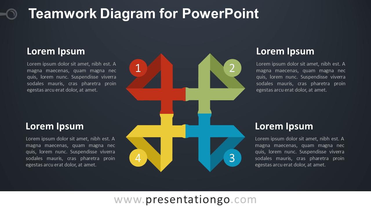 Teamwork Matrix for PowerPoint - Dark Background