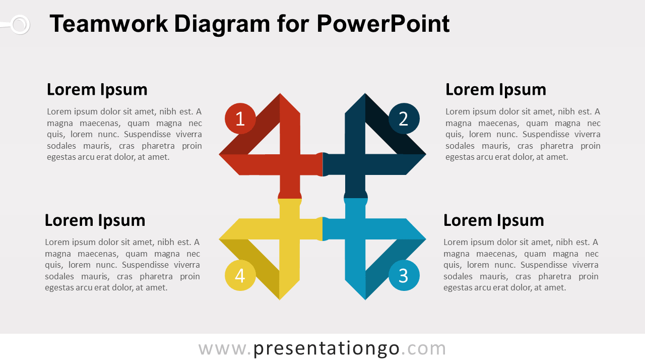 Teamwork Matrix for PowerPoint