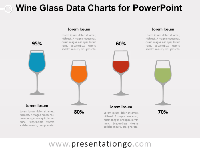 Free Wine Glass Charts for PowerPoint