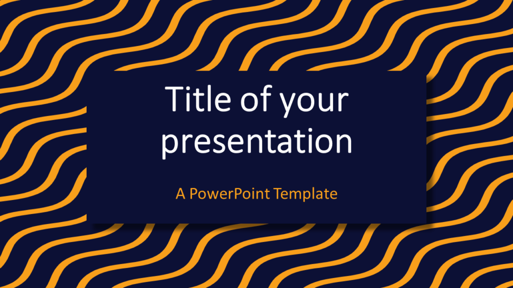Yellow Blue Wavy Pattern Abstract PowerPoint Template