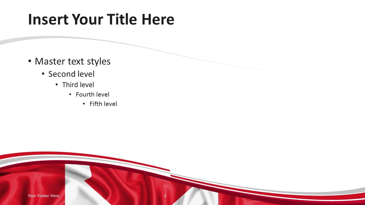 Canada Flag PowerPoint Template - Content Slide