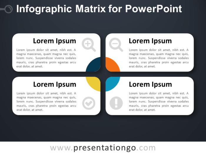 Infographic Matrix Layout for PowerPoint - Dark Background