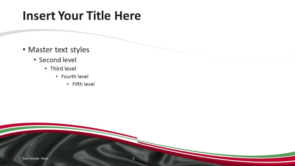 Iraq Flag PowerPoint Template - Content Slide 1