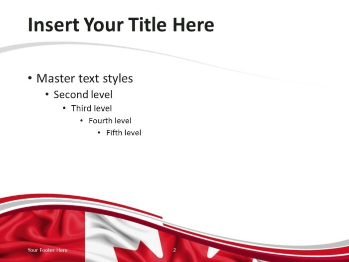 PowerPoint Template with the Flag of Canada - Content Slide