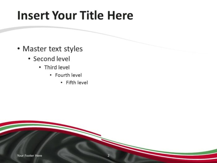 PowerPoint Template with the Flag of Iraq - Content Slide 1
