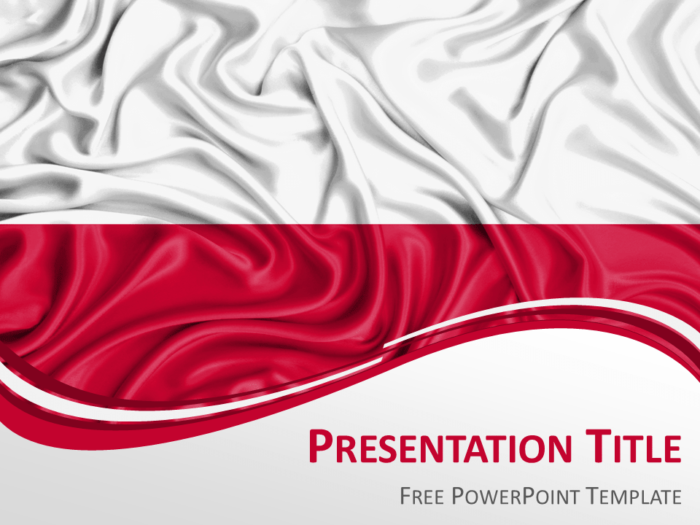 PowerPoint Template with the Flag of Poland