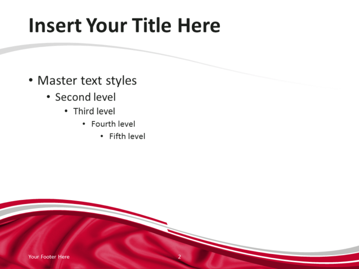 PowerPoint Template with the Flag of Poland - Content Slide