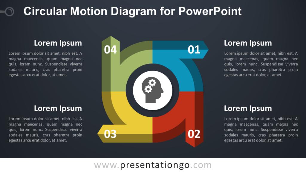 Circular Diagram for PowerPoint - Dark Background