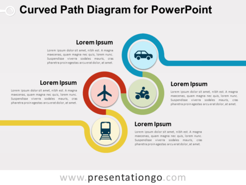 Curved Path Diagram for PowerPoint