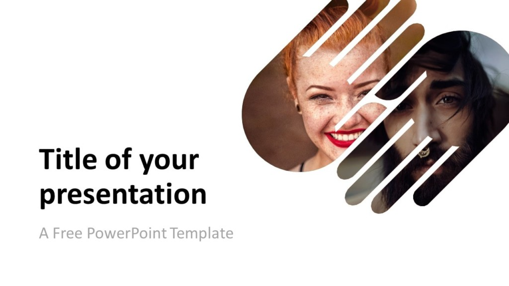 Free PowerPoint Template with 2 Hands